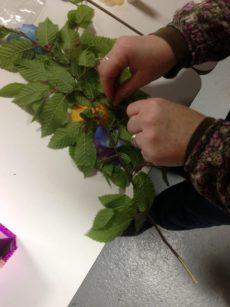 Création de fleurs